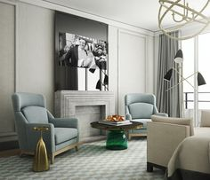 LUXURY DECOR   Contemporary decor with luxury furniture . Hyatt Nice by Jaime Beriestain    www.bocadolobo.com #contemporarydesign #contemporarydecor