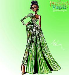 Disney Princesses Couture Collection - Tiana by Aaron Rodrigo / IG: @aaronrodrigo_