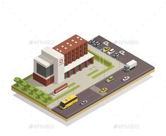 Buy Government Building Outdoor Isometric Composition by macrovector on GraphicRiver. Modern government building compound in city center and surrounding area architectural composition isometric view vect. Minecraft City Buildings, Minecraft Architecture, Isometric Art, Isometric Design, Metal Games, World Mobile, Minecraft Construction, Building Illustration, City Vector