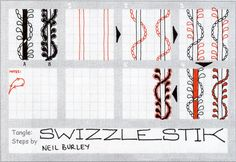 Swizzlestik - tangle pattern
