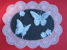 parchment paper butterflies  by 'Raine - Cards and Paper Crafts at Splitcoaststampers