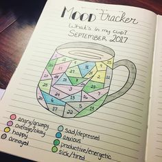 Bullet journal mood tracker. @katsbujolife
