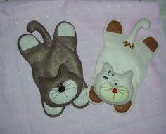 Gatinhos porta caneca em feltro