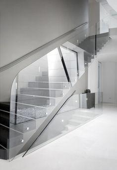 glass staircase #modern