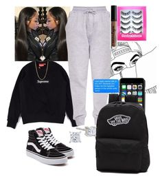 """supreme "" by lanadabest on Polyvore featuring Vans, Dolce&Gabbana, Bianca Pratt and Charlotte Russe"
