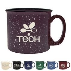 Promotional 14 oz. Camper Ceramic Mug with Deep Etching Item #GA-15700E (Min Qty: 12). Customize your Promotional Coffee Mugs with your company logo and with no setup fees.