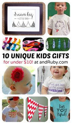 10 Unique Kids Gifts for Under $10 - sponsored by andRuby at B-InspiredMama.com - #thebestdeals