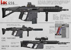 The concept is to put the Kriss Vector's, signature downward recoil system into a full length rifle system. / i am in love <3