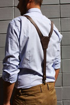 Ready to ship Leather suspenders men's от ArtLeatherDesign на Etsy Brown Suspenders, Suspenders For Women, Leather Suspenders, Wedding Suspenders, Leather Braces, Mens Braces, Leather Men, Brown Leather, Large Leather Tote Bag