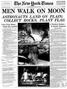 1969 Moon Landing Headline by irwin.raymund