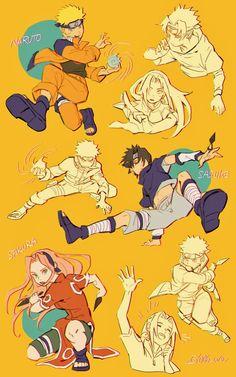 Naruto Kakashi, Anime Naruto, Sasuke Uchiha Sakura Haruno, Naruto Team 7, Naruto Fan Art, Naruto Uzumaki Shippuden, Naruto Cute, Gaara, Boruto