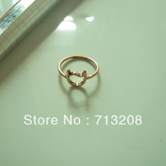 Fashion Wholesale  Rose Gold Cat Head Midi Ring