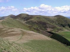 Pentland Path    This view is from just off the summit of West Kip, looking past East Kip to the main ridge featuring Scald Law, the highest point of the Pentland Hills just South of Edinburgh. The well-worn path can be seen as it makes it's way up to the main ridge walk.  Photo by Allan Old.