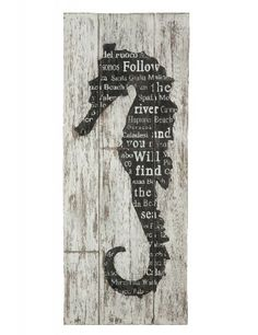 Follow the river and you will find the sea! Seahorse wall art. From Aidan Gray Home (no longer available).