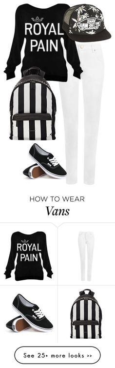 """Black and White"" by rita65 on Polyvore featuring WearAll, Vans, Givenchy and blackandwhite"