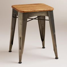 Brayden Metal and Wood Stool has an industrial feel, $89.99 at World Market