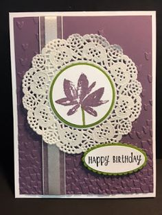 My Creative Corner!: Avant-Garden, Happy Happenings, Birthday Card, 2017 Sale a Bration, Stampin' Up!, Rubber Stamping, Handmade Cards