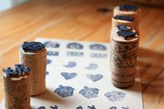 The Sweet Spot: DIY: Cork Stamps Tutorial