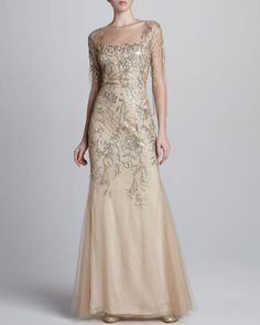 Marchesa Couture Sequined Netted Gown - originally $7,500 now $3,750
