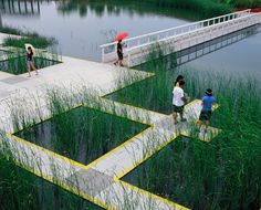 Tianjin Qiaoyuan Park by Turenscape Landscape Architecture