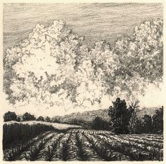 """Summer,"" Drawing on paper, 5"" x 5"" 2013"