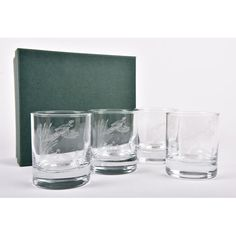 A Set of 4 Red Deer Stag Whisky Glasses will make a wonderful gift to someone who loves the countryside and wildlife. Red Deer, Bottle Stoppers, Pheasant, Whisky, Shot Glass, Wine, Glasses, Tableware, How To Make