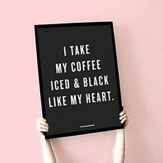 #ICED HEART Looking for #poster sized #prints? We have em! This #coffee inspired quote is ready to be put on display on your home #office or beauty room! Even the kitchen! Available in three different options! . . . . #coffeemug #fitspo #beautyroom #prints #fashion #lifestyle #decor #caffeine #homedecor #interiordesign #kitchen #goldfoil #homedesign #officedecor  #Saturday #peonies #melanin #melaninmagic #icedcoffee #champagne #print #poster #starbucks #minimal #minimalist #summer #rbf…