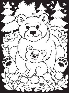 Welcome to Dover Publications / Zoo Animals Stained Glass Coloring Book / Maggie Swanson Bear Coloring Pages, Colouring Pics, Printable Coloring Pages, Adult Coloring Pages, Coloring Pages For Kids, Coloring Sheets, Coloring Books, Kids Coloring, Zoo Animals