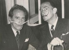 Jean Cocteau and Salvador Dalí, 1953