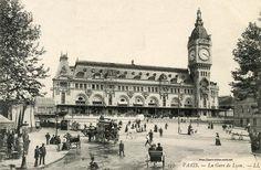 Abords de la gare de Lyon dans les années 1900 #Paris #histoire
