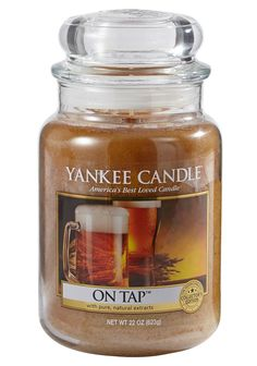 On Tap by YANKEE CANDLE – The cool, golden aroma of a freshly poured draft beer.