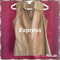 """""""Say It In Silk"""" stunning top 100% silk top by Express is great in this green. The color has an almost iridescent sheen to it. It's really very eye catching! Great addition to your wardrobe Express Tops"""
