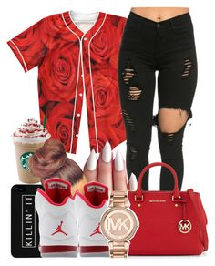 """""""UNTITLED #145"""" by favdimples ❤ liked on Polyvore featuring LG, MICHAEL Michael Kors, Retrò and Michael Kors"""