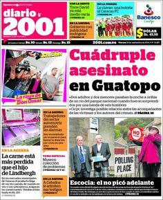#Portadas #PrimeraPagina #Titulares #Noticias #DesayunoInformativo @2001OnLine