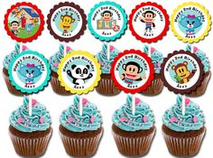 30 ct Julius Jr  personalized cupcake toppers by TooPrettyPersonal