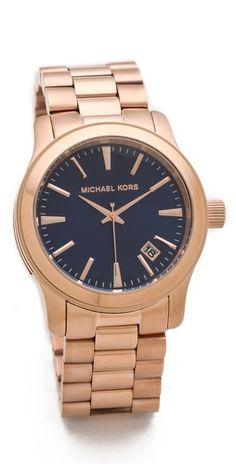oversized runway watch / michael kors