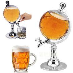 1PCS 1000cc Creative Globe Shaped Beverage Liquor Dispenser Drink Wine Beer Pump Single Canister Pump #Affiliate