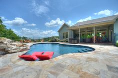 Freeform in ground pool in central PA, Goodall Pools & Spas.