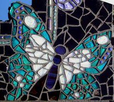 Butterfly #mosaic close-up #birds #animals