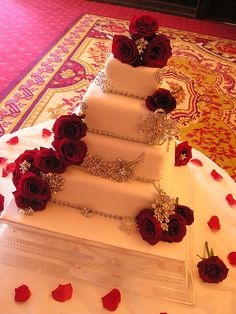 cascading diamonds wedding cake - Google Search