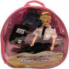 Westjet Flight Attendant Doll W/ Luggage