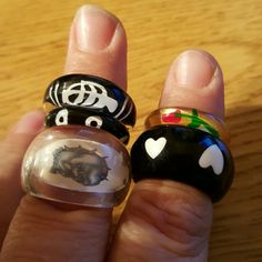 **Sale** Black Bundle **SALE**  New, thick plastic, various sizes. All 5 rings included in bundled. Can swap out other plastic rings  to create custom bundle. Jewelry Rings