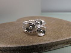 Sterling stacking rings by Bay Design.