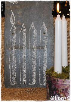 Adventsstaken kan tegnes. http://inspirasjon.litenq.no