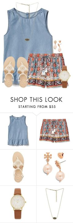 """""""When's y'alls last day of school """" by flroasburn on Polyvore featuring Gap, Jack Rogers, Tory Burch, Kate Spade and Kendra Scott"""