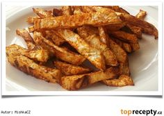 Celerové hranolky z trouby Healthy Cooking, Cooking Recipes, Healthy Recipes, Russian Recipes, Lchf, Fries, Bacon, Healthy Living, Food And Drink