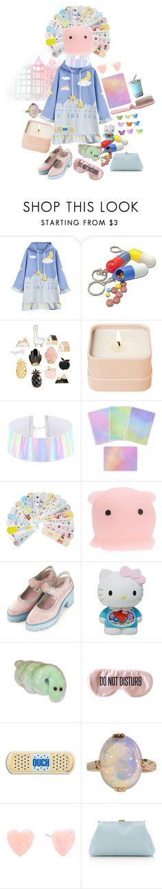 """""""small town sleepy hospital"""" by blackpool ❤ liked on Polyvore featuring Henri Bendel, Topshop, Hello Kitty, BaubleBar, Anya Hindmarch, Mansur Gavriel and medical"""