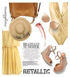 """""""#469 Brazilian"""" by mayblooms ❤ liked on Polyvore featuring Martha Medeiros, Chicwish, Schutz, Urban Expressions, Eugenia Kim, Linda Farrow and metallicswimwear"""