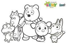 Pintas Kemy y sus amigos, descargar dibujos colorear dibujos animados -- Kemy coloring pages,  cartoon downloadables
