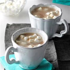 Vanilla Almond Hot Cocoa Recipe -Treat your family to this comforting, homemade cocoa as you decorate the tree or open holiday gifts. Vanilla and almond extracts make it taste even more special. —Vicki Holloway, Joelton, Tennessee